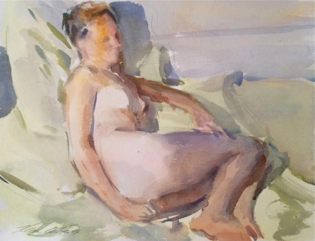 Marc Whitney Watercolor Nude 3