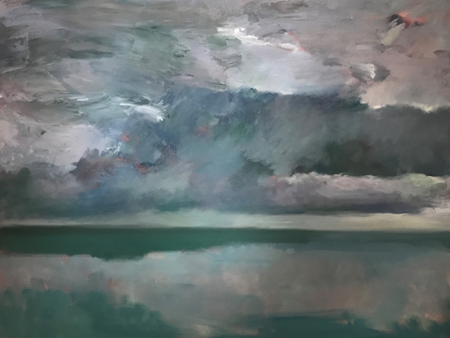 Marc Whitney Ocean Storm 46 x 60 in, oil