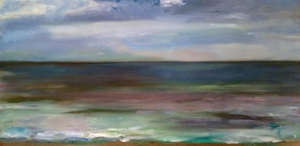 Marc Whitney oil painting Evening Seascape
