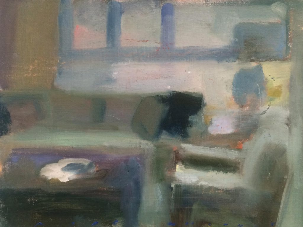 Marc Whitney oil painting San Fran Interior