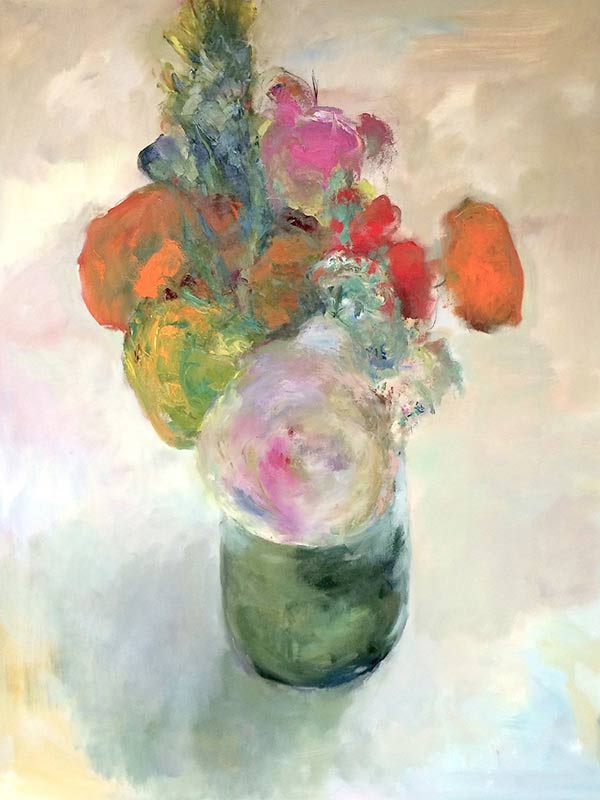 Marc Whitney original oil painting Mixed Bouquet