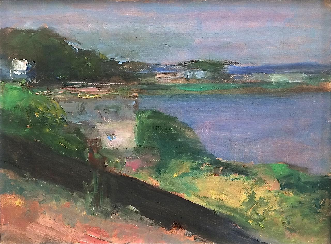 Marc Whitney oil painting Morro Bay View