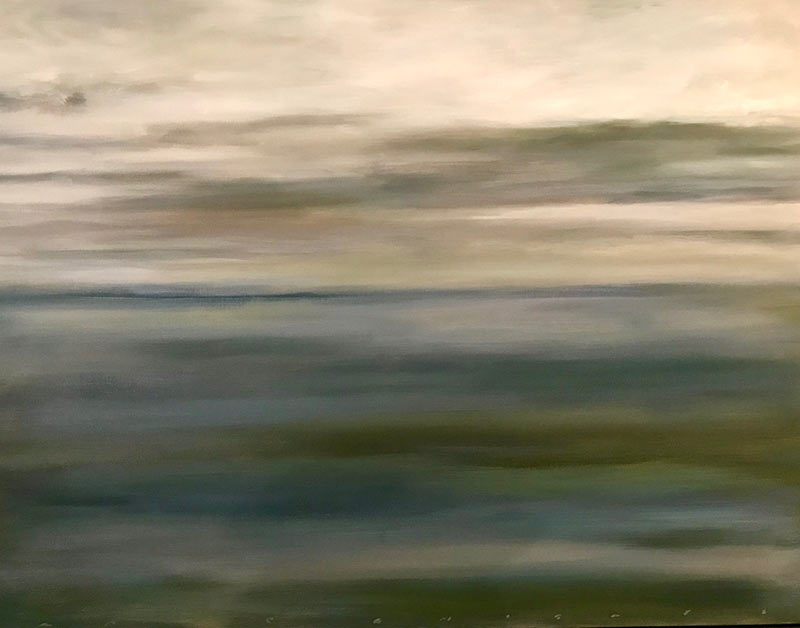 Blue Seascape oil painting by Marc Whitney