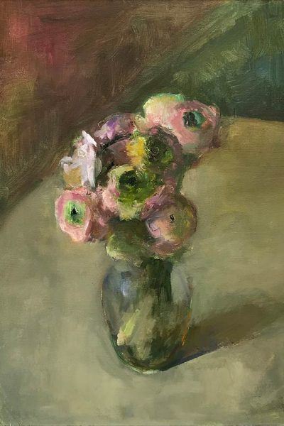 Marc Whitney oil painting Ranunculus Hybrids