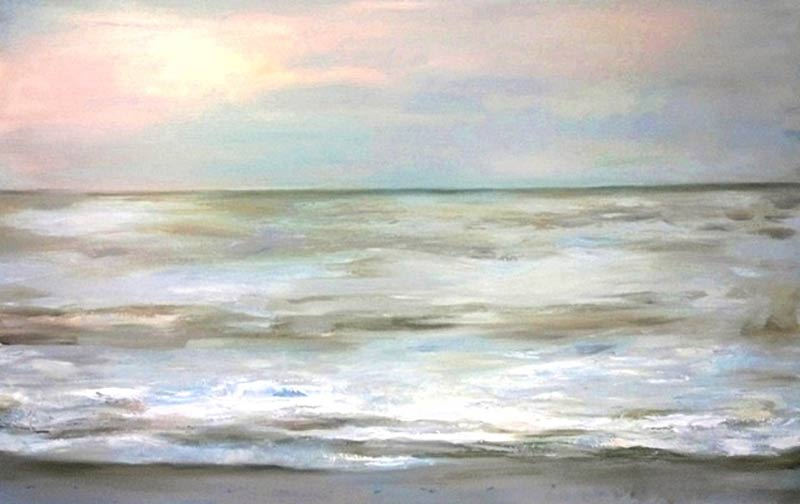 Marc Whitney fine art reproduction Blue and White Ocean