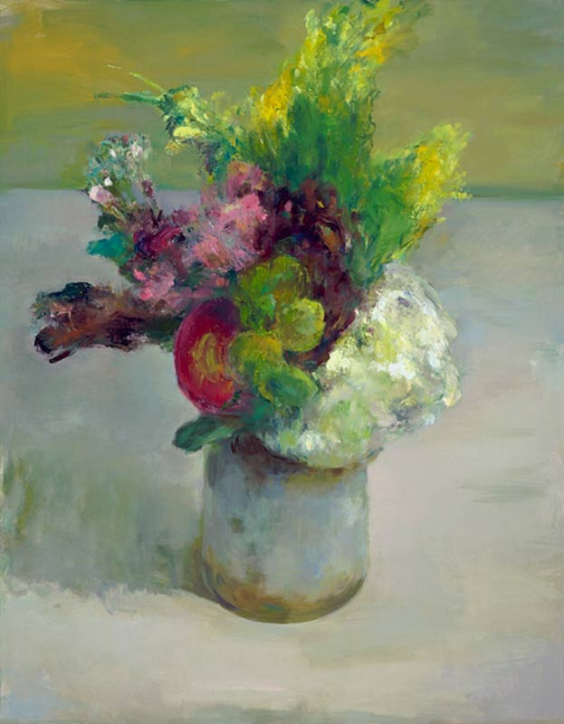Marc Whitney fine art reproduction Floral with Red Flower