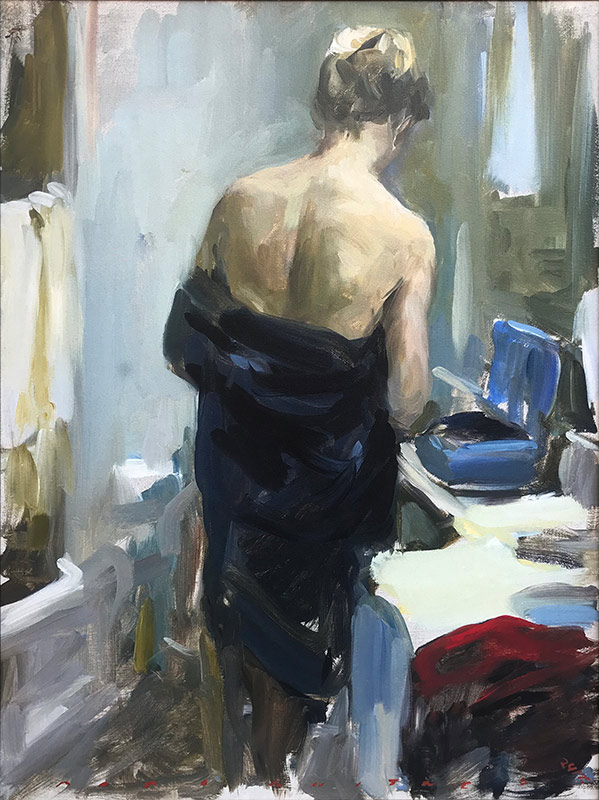 Marc Whitney fine art print Blue Robe
