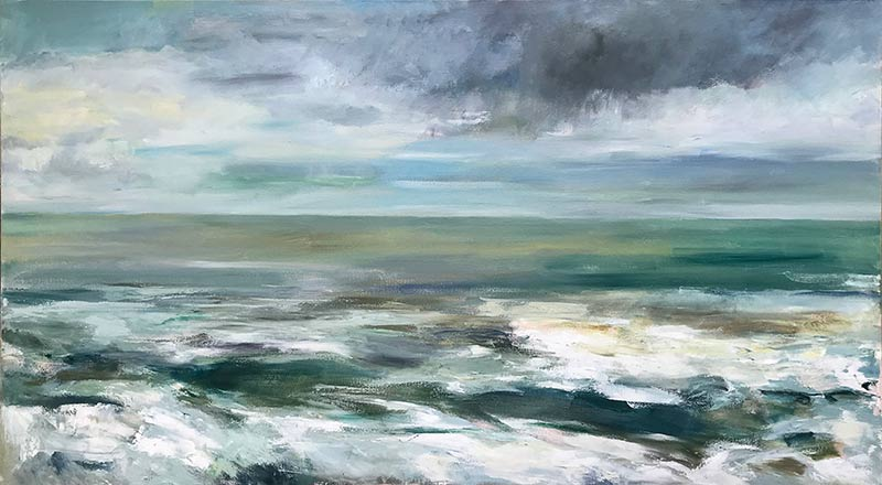 Marc Whitney oil painting commission Seascape