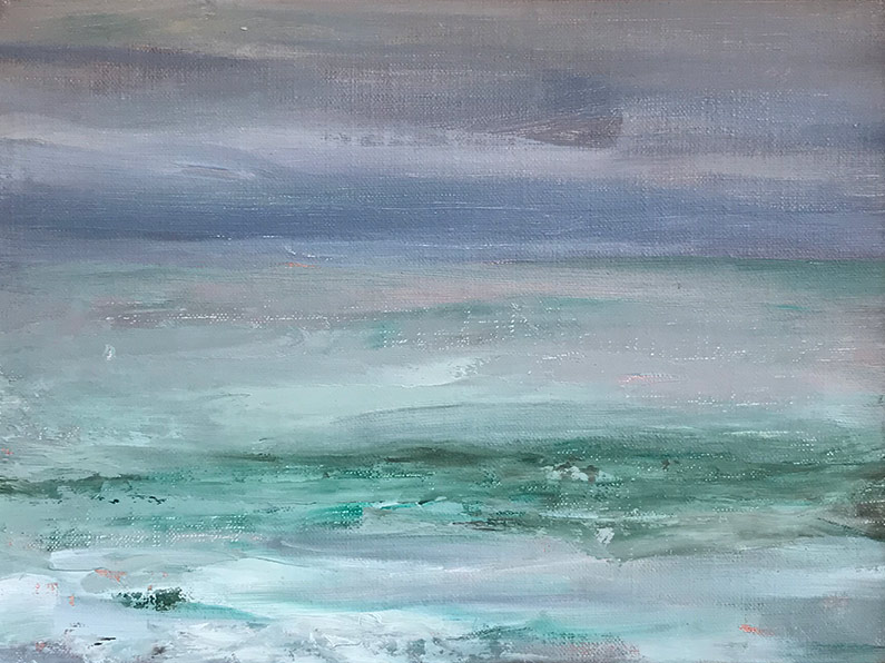 Marc Whitney oil painting Laguna Seascape III
