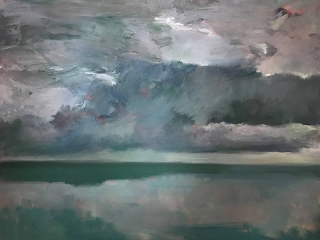 Marc Whitney oil painting Ocean Storm