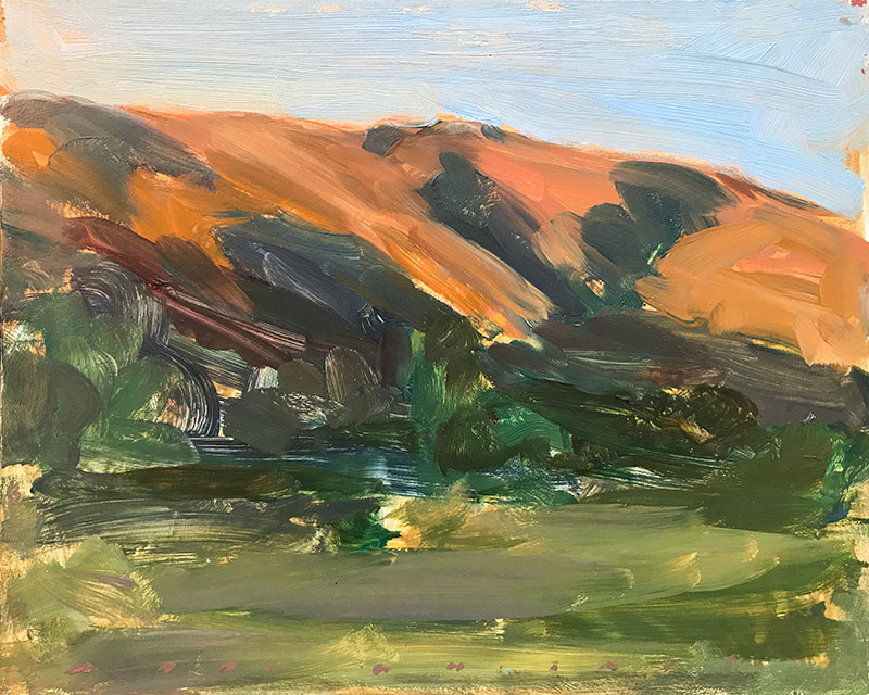 Marc Whitney oil painting Orange Hills