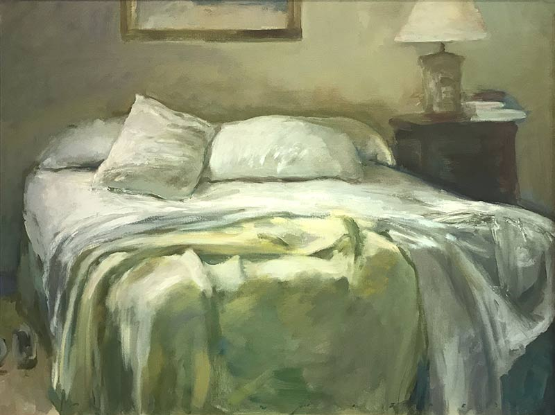 Marc Whitney fine art print Unmade Bed Soft Yellow Blanket