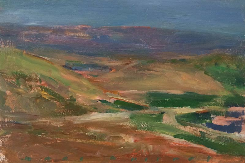 Marc Whitney oil painting View Looking SE