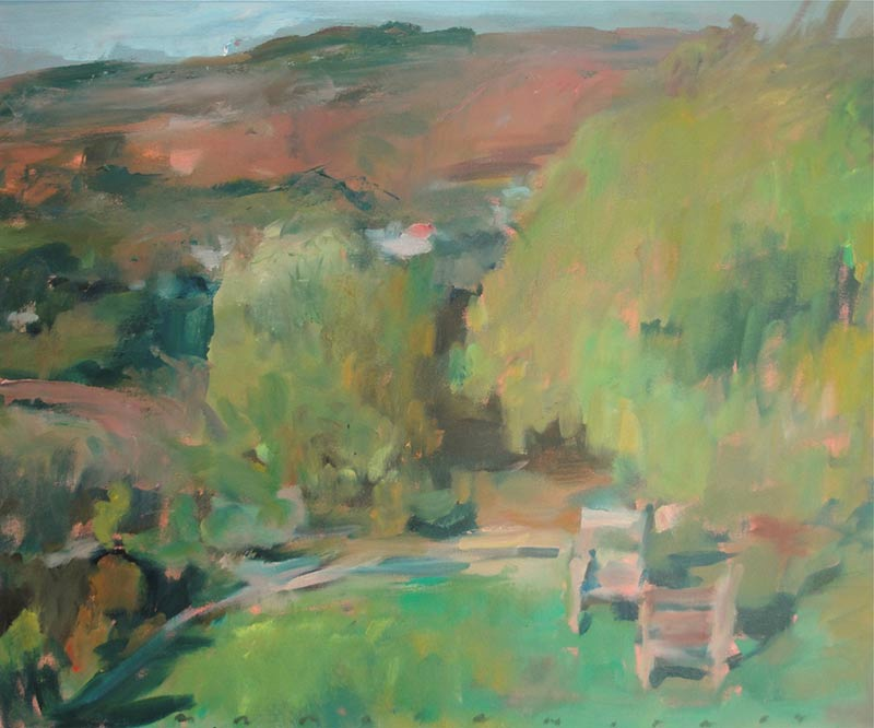 Marc Whitney oil painting View with Chairs
