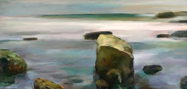 Rock Pile oil painting by Marc Whitney