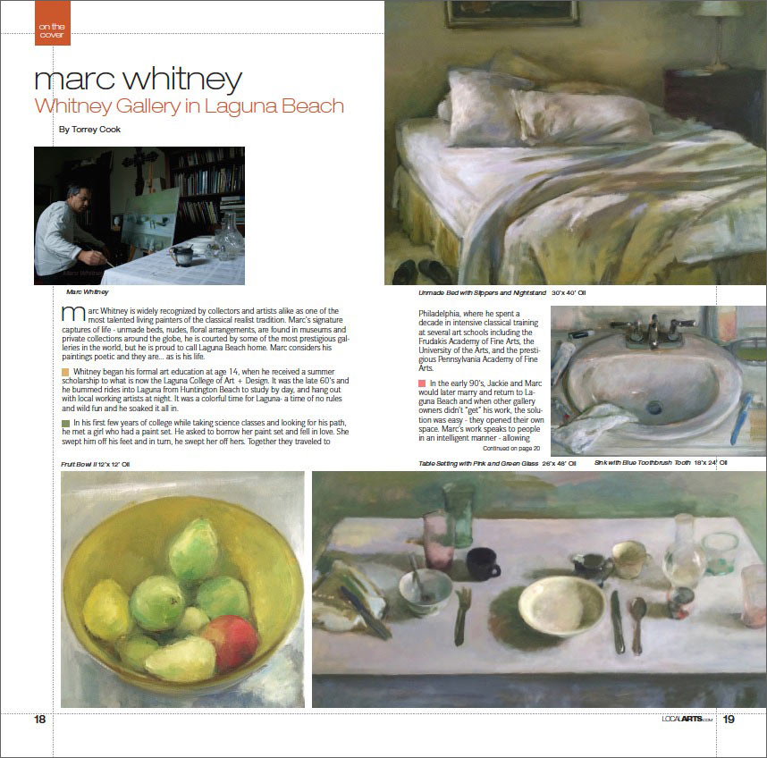 Local Arts Magazine featuring Marc Whitney